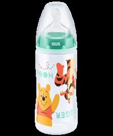 Butelka NUK First Choice Plus DISNEY Kubuś Puchatek z tworzywa (PP) 300 ml, ze smoczkiem silikonowym
