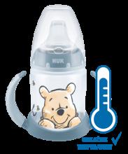 NUK Butelka do nauki picia Disney Kubuś z wskaźnikiem temperatury, 150 ml
