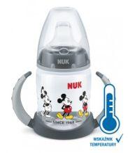 NUK Butelka do nauki picia Mickey z wskaźnikiem temperatury, 150 ml