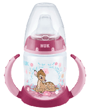 Butelka NUK Disney Classics First Choice z uchwytami, 150 ml, silikon