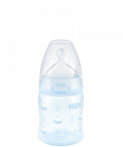 NUK First Choice Plus Baby Rose & Blue Bottle 150ml with Teat-Blue-Boat