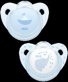 Silikonowy smoczek uspokajający NUK Trendline Baby Rose & Blue