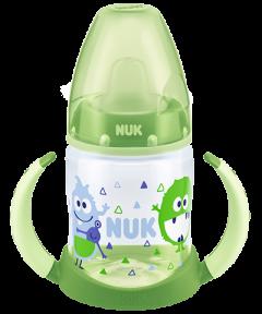 Butelka NUK First Choice 150 ml z podwójnym uchwytem, z ustnikiem z TPE